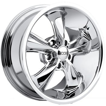 Foose Legend 18x9 Chrome Wheel / Rim 5x4.75 with a 7mm Offset and a 72.60 Hub Bore.