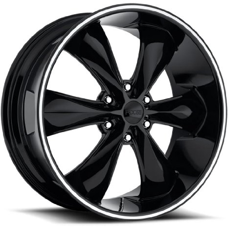 Foose Legend 6 22 Black Wheel / Rim 6x5.5 with a 35mm Offset and a 78.10 Hub Bore.