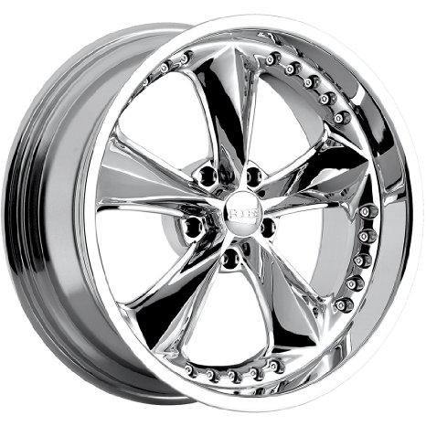 Foose Nitrous 20 Chrome Wheel / Rim 5x4.5 with a 34mm Offset and a 72.60 Hub Bore.