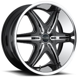 Foose Pinnacle 24 Black Wheel / Rim 6x135 & 6x5.5 with a 30mm Offset and a 106.00 Hub Bore