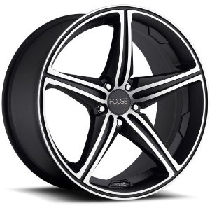 Foose Speed 19 Black Wheel / Rim 5x112 with a 25mm Offset and a 66.60 Hub Bore. Partnumber