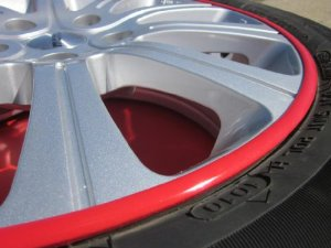 1989-1997 GEO PRIZM Rim Guards Red Alloy Armor Wheel Rim Curb Scratch Protection Strips 19