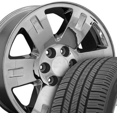 Yukon Style Wheels and Tires Fits GMC - Chrome 20x8.5 Set of 4