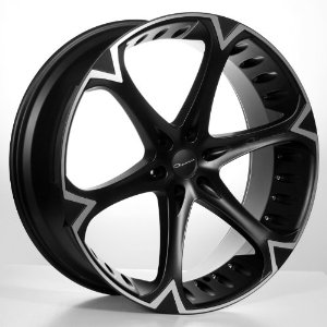 "26"" Giovanna Dalar6-V-Bk Wheels & Tires Pkg-Fits On Nissan Almada,Chevy Tahoe , Yukon"