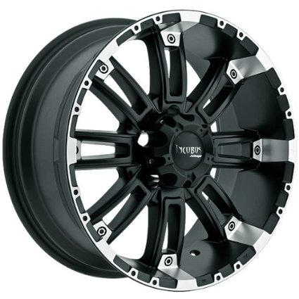 Incubus Crusher 18x9 Black Wheel / Rim 6x135 with a 12mm Offset and a 87.00 Hub Bore.