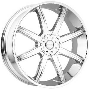 Incubus Empire 28 Chrome Wheel / Rim 5x4.75 & 5x5 with a 13mm Offset and a 83.7 Hub Bore
