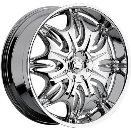 Incubus Jinx 24x10 Chrome Wheel / Rim 5x4.75 & 5x5 with a 25mm Offset and a 83.70 Hub Bore