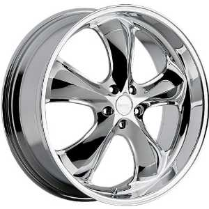 Incubus Shylock 20x9.5 Chrome Wheel / Rim 5x120 with a 35mm Offset and a 74.10 Hub Bore