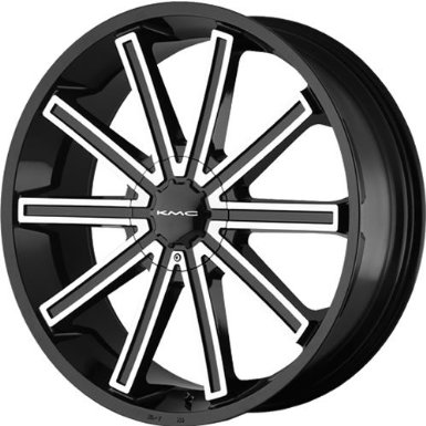 KMC KM681 24 Black Wheel / Rim 6x135 & 6x5.5 with a 15mm Offset and a 106.25 Hub Bore.