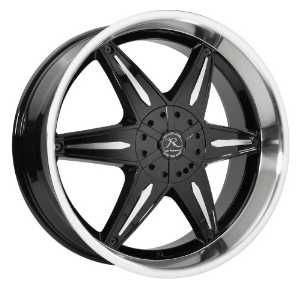 Ka-Rizzma 11 22x9.5 Black Wheel and Machined with Chrome Inserts 5x135mm 5x139.7mm Bolt