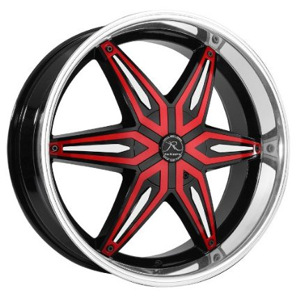 Ka-Rizzma 11 22x9.5 Black and Machined Wheel with Red Inserts 6x135mm 6x139.7mm Bolt