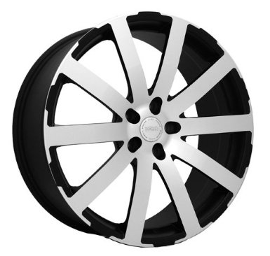 KATANA KP1 20X8.5+35 5X112 MATTE BLACK W/ MACHINED FACE & LIP