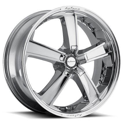Katana KR12 wheel 20x8.5 5x120 +35 Chrome Finish New Wheels