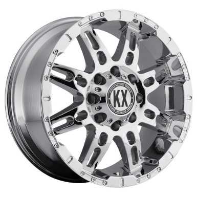 Katana KX Off-Road CP34 17x8 6x135 +25 Chrome Finish Ford F150 New Wheels