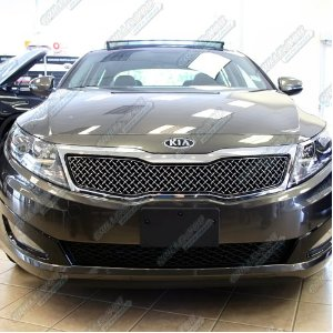 Kia Optima LX/EX Stainless Steel Chrome X Grill