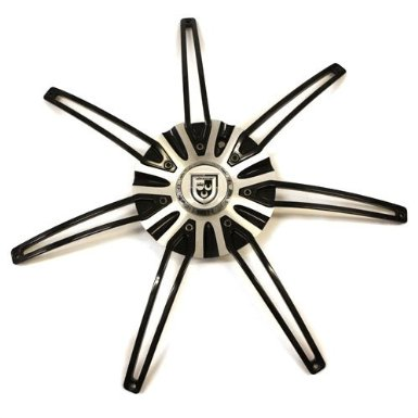"22"" Lexani Wheel Lx7 Center Cap Black # C-617 # C-189"