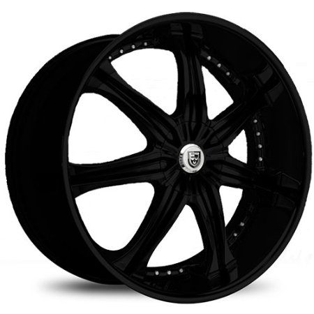 Lexani LX-7 617FB Black Wheel / Rim 22x10 5x4.25 15mm Offset 73mm Hub SKU: 617-2210-31-15F