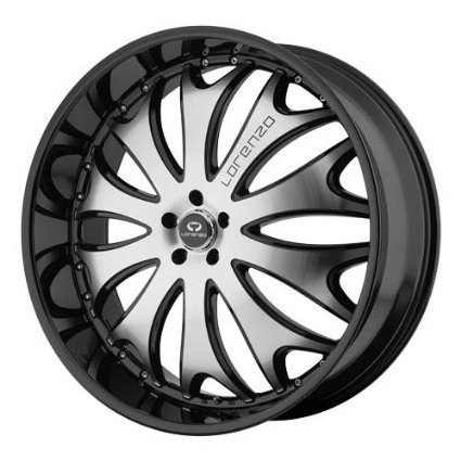 Lorenzo WL029 22x10 Black Wheel / Rim 5x112 with a 38mm Offset and a 72.60 Hub Bore.