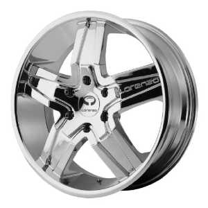 Lorenzo WL030 20x8.5 Chrome Wheel / Rim 5x4.5 with a 38mm Offset and a 72.60 Hub Bore.