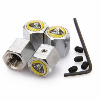 Lotus Anti-theft Chrome Car Wheel Tire Valve Stem Caps