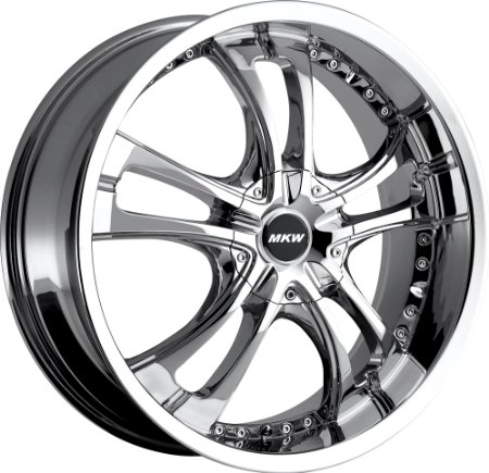 MKW M101 17 Chrome Wheel / Rim 4x100 & 4x4.5 with a 40mm Offset and a 73.00 Hub Bore