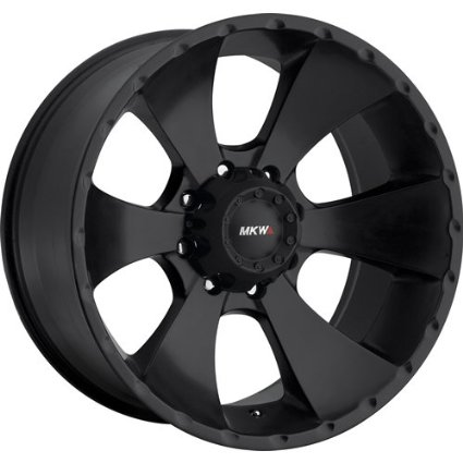 MKW Offroad M19 18 Black Wheel / Rim 8x6.5 with a 10mm Offset and a 130.80 Hub Bore