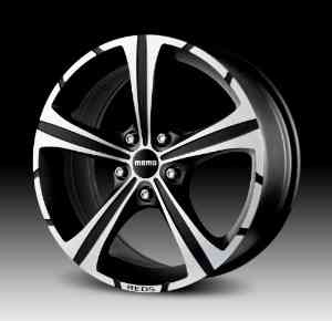 "Momo Black Knight Wheel with Matte Black Machined (17x7.5""/5x112mm)"