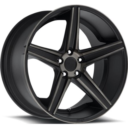 Niche Apex 18 Black Flake Wheel / Rim 5x120 with a 40mm Offset and a 72.6 Hub Bore