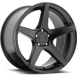 Niche GT-5 20 Black Wheel / Rim 5x112 with a 27mm Offset and a 66.6 Hub Bore