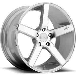 Niche Milan 20 Silver Wheel / Rim 5x115 with a 38mm Offset and a 70.6 Hub Bore