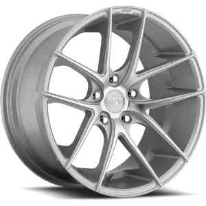 Niche Targa 20 Silver Wheel / Rim 5x112 with a 42mm Offset and a 66.6 Hub Bore