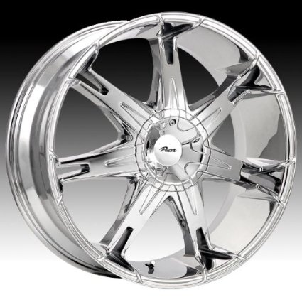 Pacer Fuzion 18x7.5 Chrome Wheel / Rim 5x4.5 & 5x5 with a 42mm Offset and a 73.00 Hub Bore