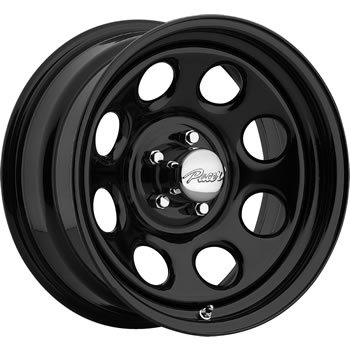 Pacer Soft 8 15x7 Black Wheel / Rim 5x4.75 with a 0mm Offset and a 83.82 Hub Bore