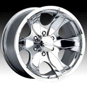 Pacer Warrior 16x8 Polished Wheel / Rim 5x135 with a 10mm Offset and a 87.00 Hub Bore