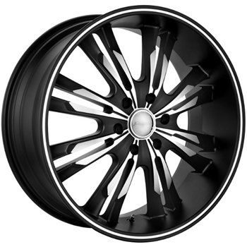 Panther Burst 22x9.5 Black Wheel / Rim 5x5 with a 15mm Offset and a 83.70 Hub Bore. Partn