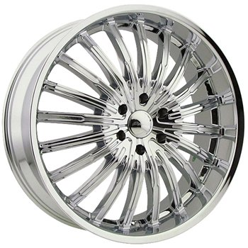 Panther Spyder 20 Chrome Wheel / Rim 5x120 with a 35mm Offset and a 74.1 Hub Bore. Partnu