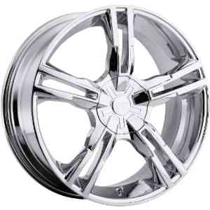 Platinum Saber 18 Chrome Wheel / Rim 5x120 & 5x4.5 with a 42mm Offset and a 74 Hub Bore.