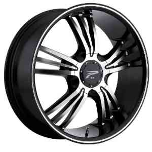 Platinum Wolverine 17 Black Wheel / Rim 4x100 & 4x4.25 with a 42mm Offset and a 73 Hub Bor