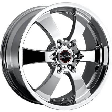 Raceline Maxim 6 22 Chrome Wheel / Rim 6x5.5 with a 14mm Offset and a 107.95 Hub Bore.