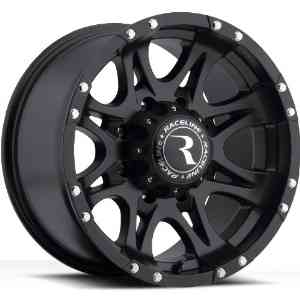 Raceline Raptor 17 Black Wheel / Rim 8x6.5 with a -12mm Offset and a 130.81 Hub Bore.