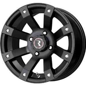 "Raceline Scorpion Black Wheel with Machined Face Finish (12x7""/4x110mm)"