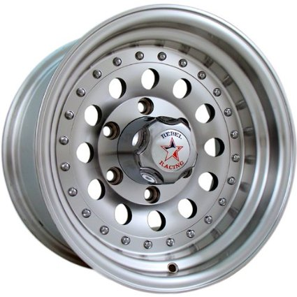 Rebel Racing Bandit II 15 Machined Wheel / Rim 5x5 with a -19mm Offset and a 83.06 Hub
