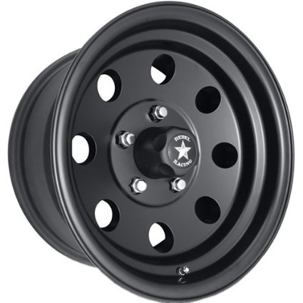 Rebel Racing Sahara 16 Black Wheel / Rim 5x4.5 with a 0mm Offset and a 83.06 Hub Bore.