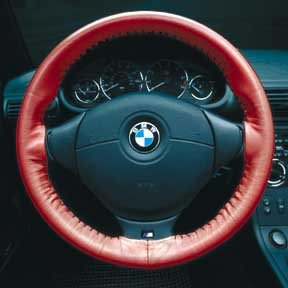 Red - Wheelskins Geninue Leather Steering Wheel Cover - Alfa Romeo All