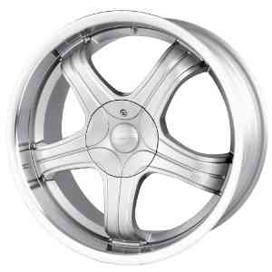 18x8 Sacchi S22 (222) (Hyper Silver w/ Machined Lip) Wheels/Rims 5x108/114.3 (222-8814S)