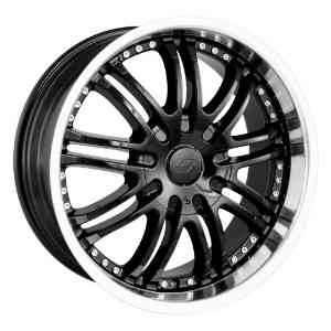20x8.5 Sacchi S95 (295) (Black w/ Machined Lip) Wheels/Rims 6x135/139.7 (295-2837B)