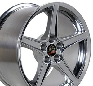 Saleen Style Wheel Fits Mustang (R) - Polished 18x9