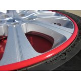 2007-2009 SATURN AURA Rim Guards Red Alloy Armor Wheel Rim Curb Scratch Protection Strips