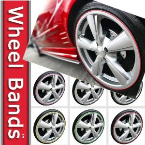 Wheel Bands Rim Protector Saturn Vue 2008 2009 2010 - Silver W/ Black Track