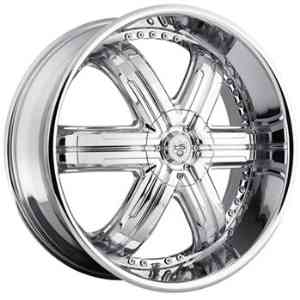 TIS 533 24x9.5 Chrome Wheel / Rim 5x115 & 5x5 with a 18mm Offset and a 83.82 Hub Bore.